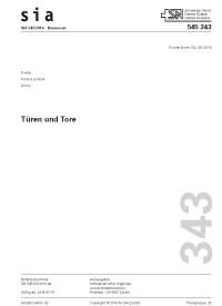 Norm türen  SIA-Shop Produkt - 'SIA 343 / 2014 D - Türen und Tore (Normenwerk ...
